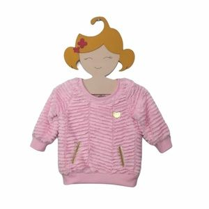 Juicy Couture Pink Fuzzy Sweater 12 Months